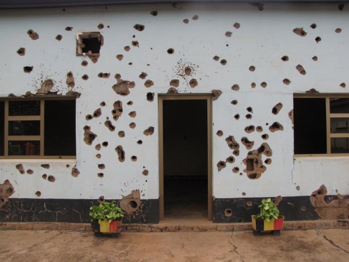 Baku bullet holes
